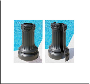 Armeria street light base clam shell wrap around base clam shell wrap around light pole base protector mozeypictures Images